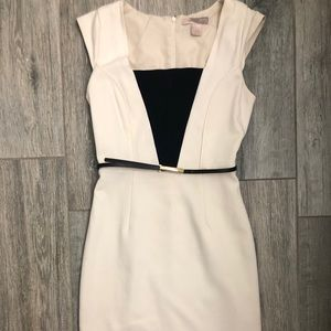 Forever 21 Cream and Black Dress Size S
